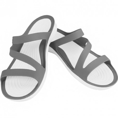 latte bianco piastrella triangolo  Women's Shoes Crocs Swiftwater Webbing Sandal W