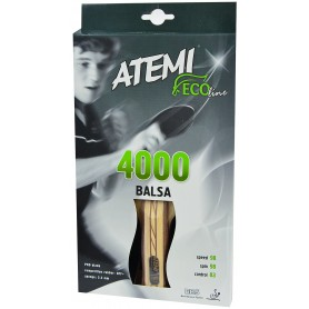Table tennis racket ATEMI 4000 BALSA anatomical