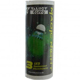 Talbot Torro Tato Magic Night Led Badminton flounces 3pcs.