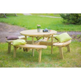 Round table without backrests