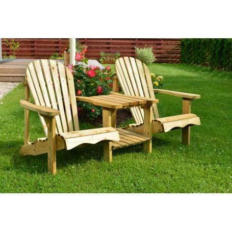 """Divvietīgais atpūtas krēsls """"HOLANDE"""" ar galdiņu"""