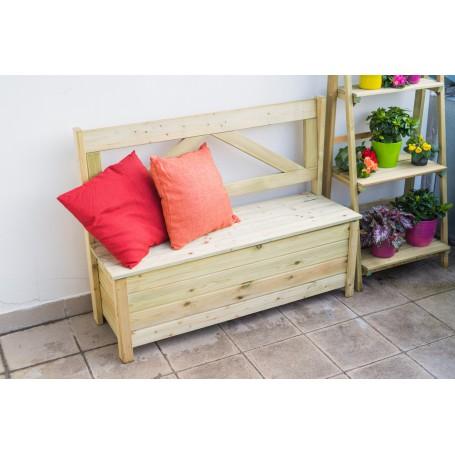 "Small bench with box ""Riga"""