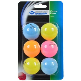 Table tennis balls DONIC COLOR 6 pcs