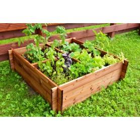 Dārza augu kaste - 4 nodalijumu