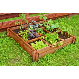 Vegetable bed with nine sections