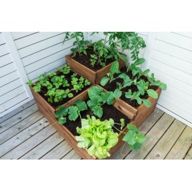 Vegetable bed with four sections