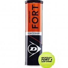 Dunlop Fort Clay Court 4 шт теннисный мяч