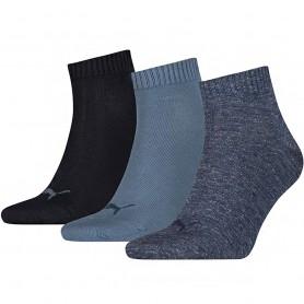 Puma Unisex Quarter Plain 3-пакет носки