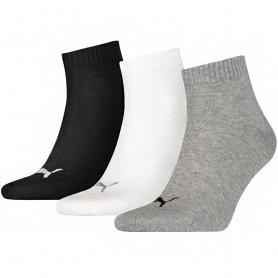 Puma Unisex Quarter Plain 3 pack stockings