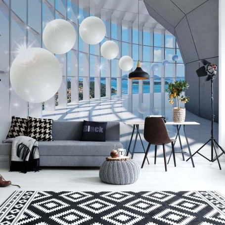 3D Modern Architecture Spheres