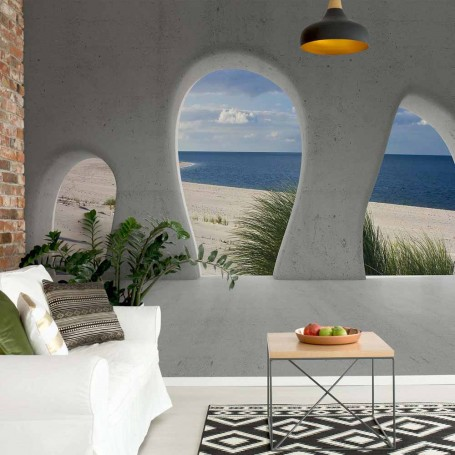 Beach 3D Concrete Arches View