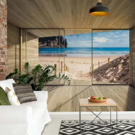 Beach 3D Modern Window View