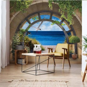 Beach Archway View