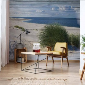 Rustic Coastal Wood Planks Beach