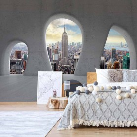 Fototapeet New York City 3D Concrete Arches View