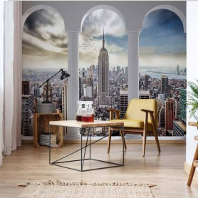 Fototapeet New York City Skyline 3D Archway View