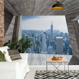 Fototapeet New York City Skyline 3D Concrete Modern Architecture View