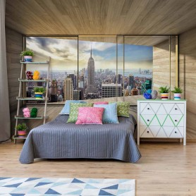 Fototapeet New York City Skyline 3D Modern Window View