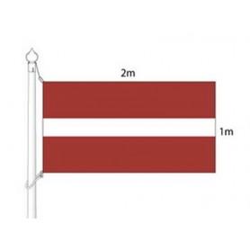 Läti riigilippu (lipumasti) 2x1m