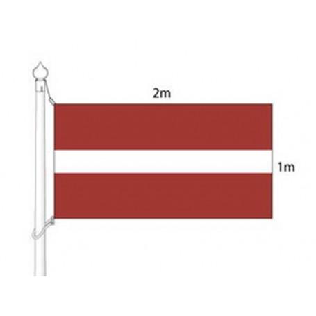 Latvijas valsts karogs (karoga mastam) 2x1m