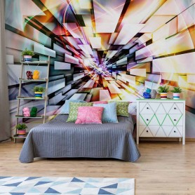 3D Abstract Design Multicoloured