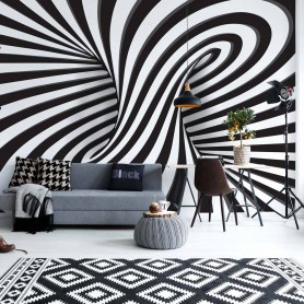 3D Black And White Twister