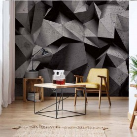3D Geometric Concrete Wall