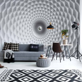 3D Grey Circular Design Optical Illusion