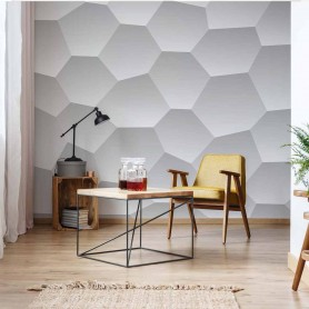 3D Honeycomb Texture Grey