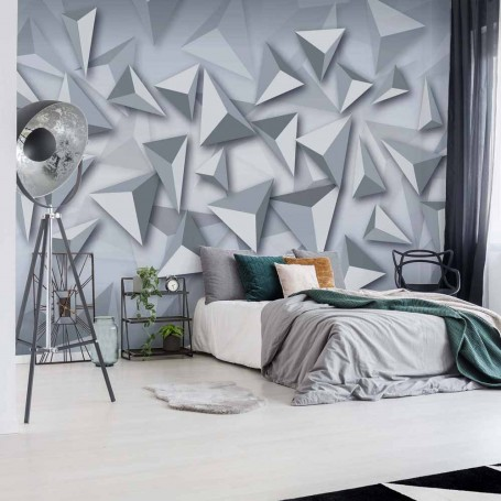 Wallpaper Modern Grey And White