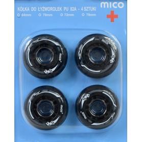 MICO PU 64mm x 24mm roller skates wheels 4 pcs.