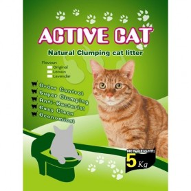 Kaķu smiltis 5kg Active Cat Natural Clumping Cat Litter