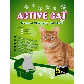 Наполнитель для кошачьих туалетов 5кг Active Cat Natural Clumping Cat Litter