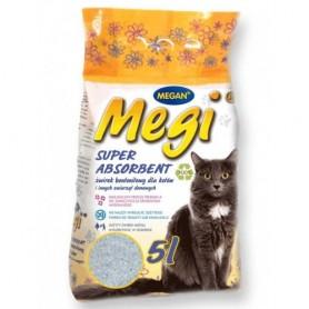 Наполнитель для кошачьих туалетов Megi Super Absorbent 5л