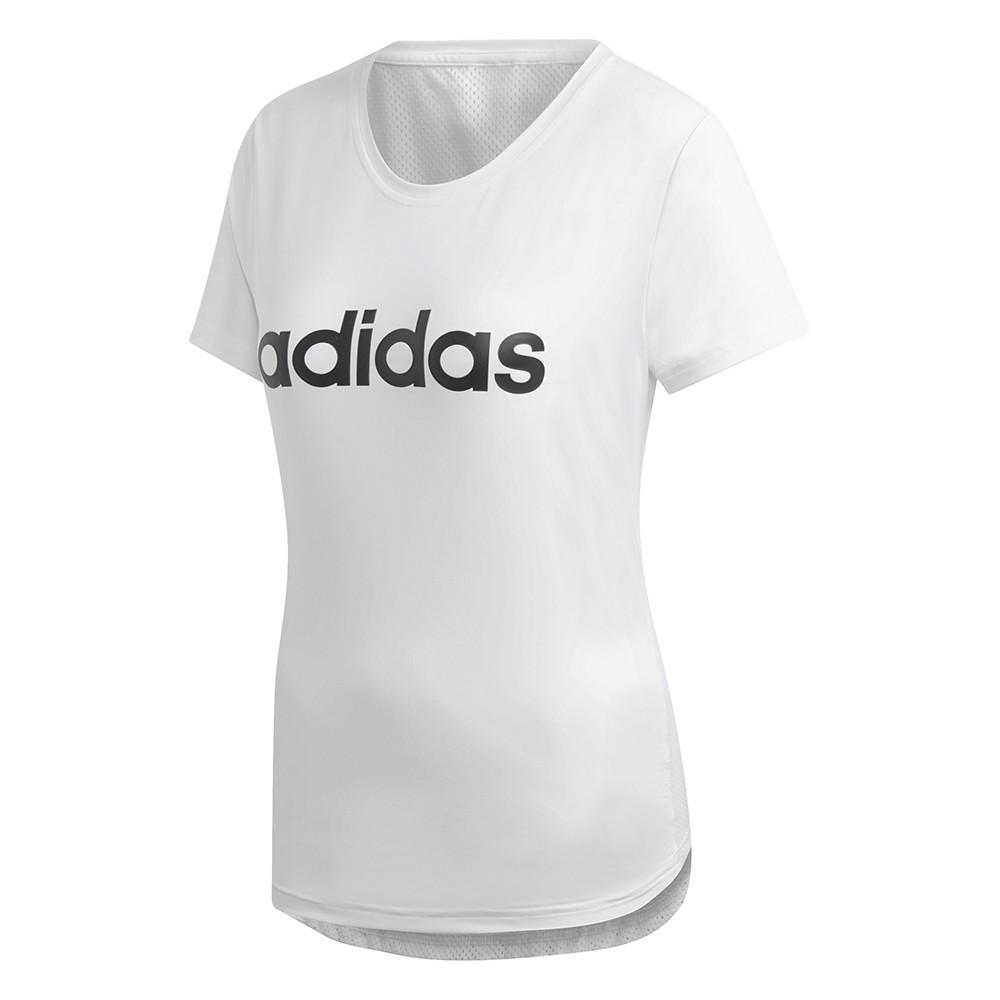 Women's T shirt Adidas W D2M Logo Tee