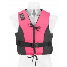 Glābšanas veste - peldveste Besto Dinghy 50N XL (70+kg) ar rāvējslēdzēju Pink / Black