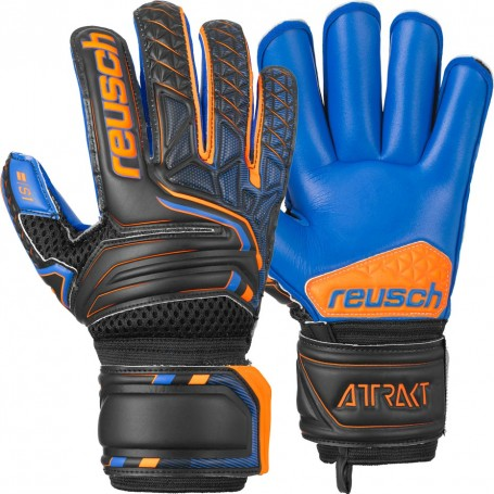 Reusch Childrens Attrakt S1 Roll Finger Junior Goalkeeper Gloves