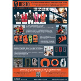 Buklets 143x207mm, glābšanas vestes, riņķi, bērnu glābšanas vestes, glābšanas riņķis