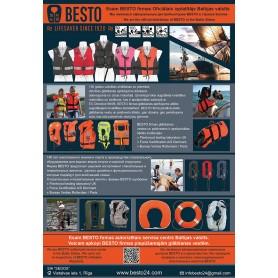 буклет 143x207mm, Спасательные жилеты, надувные спасательные жилеты, спасательный пояс