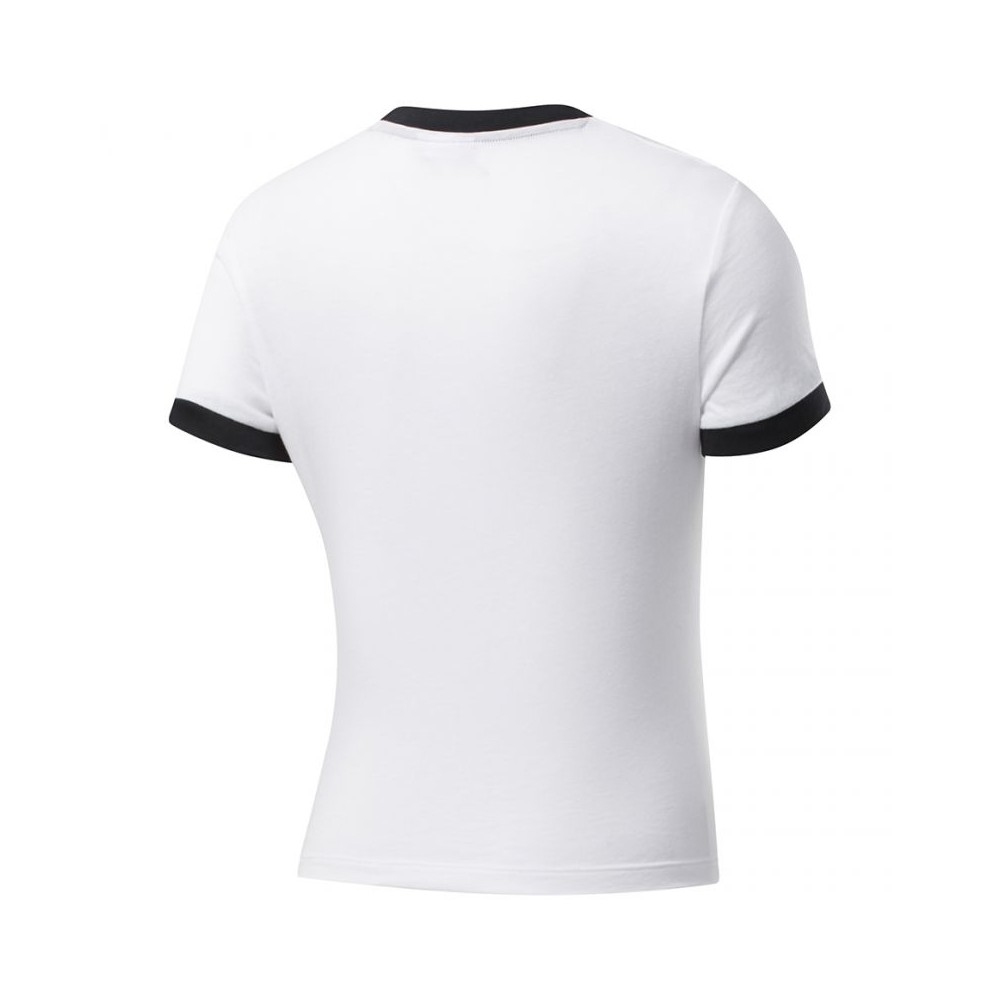 Reebok Womens T Shirt Short Sleeve TShirt T-Shirt Linear Logo Training Top