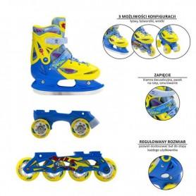 Детские pоликовые коньки / коньки Детские роликовые коньки Nils Extreme 3in1