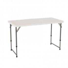 Half-folding table 122 cm height adjustable