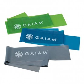 Fitness rubber tape 3 pcs Gaiam