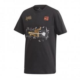Children's T-shirt Adidas JR Marvel Black Panther