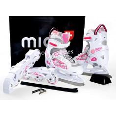 Детские pоликовые коньки / коньки MICO PRINCESS 2in1