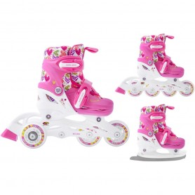Skates for Kids Smj 3in1 Hearts BS-901P