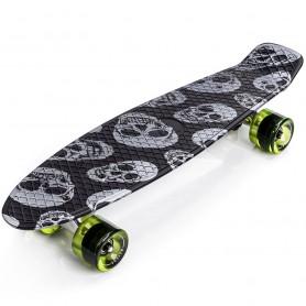 Skateboard Meteor Multikolor Skulls