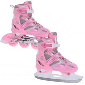 Roller skates / Skates Nils Extreme 2in1 Pink