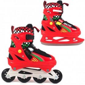 Roller skates / Skates ROL188 red-black 2in1