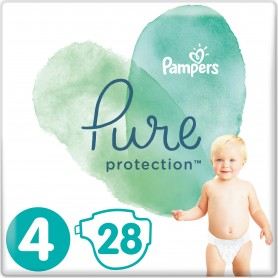 Pampers Pure Protection ( Izmērs 4 ) 28 gab
